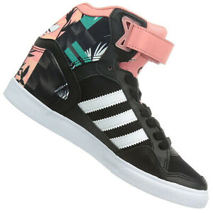 outlet online beauty united kingdom Adidas Originals Extaball up Ladies Sneaker Shoes Wedge Heel Black ...