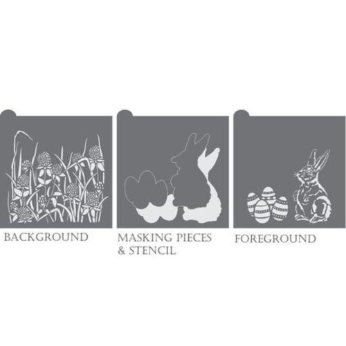 Confection Couture Egg Hunt Dynamic Duos Background Cookie Stencil Set