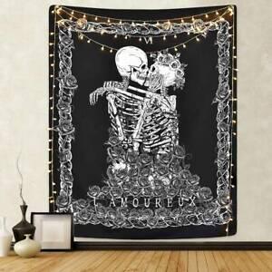 Skull Tapestry Wall Hanging Mandala Tapestry Skeleton Bedspread Home Decorative