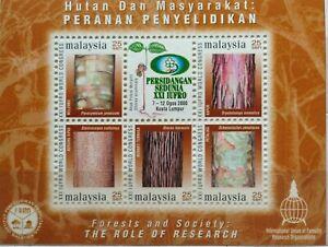 Malaysia-Miniature-Sheet-07-08-2000-XXI-IUFRO-World-Congress-25-sen