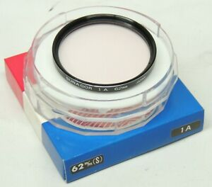 JAPANESE MADE BRAND NEW  62mm SKYLIGHT 1A GLASS FILTER  BY SUNAGOR