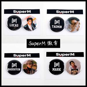 2pcs-set-Kpop-SuperM-1st-Mini-Album-Badge-Brooch-Cute-Chest-Pin-BEAKHYUN-TAEYONG