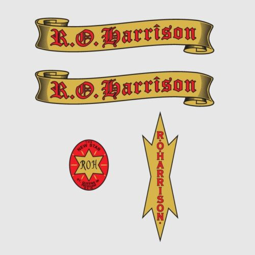 R O Harrison Bicyclette Cadre Autocollants-Decals-Transfers n.1