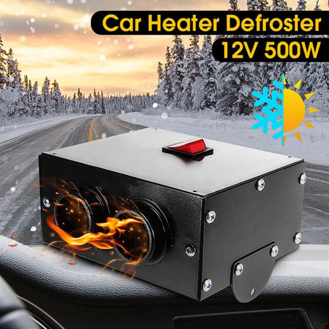 500W 12V Car Truck Fan Heater Heating Warmer Windscreen Defroster Demister Fan