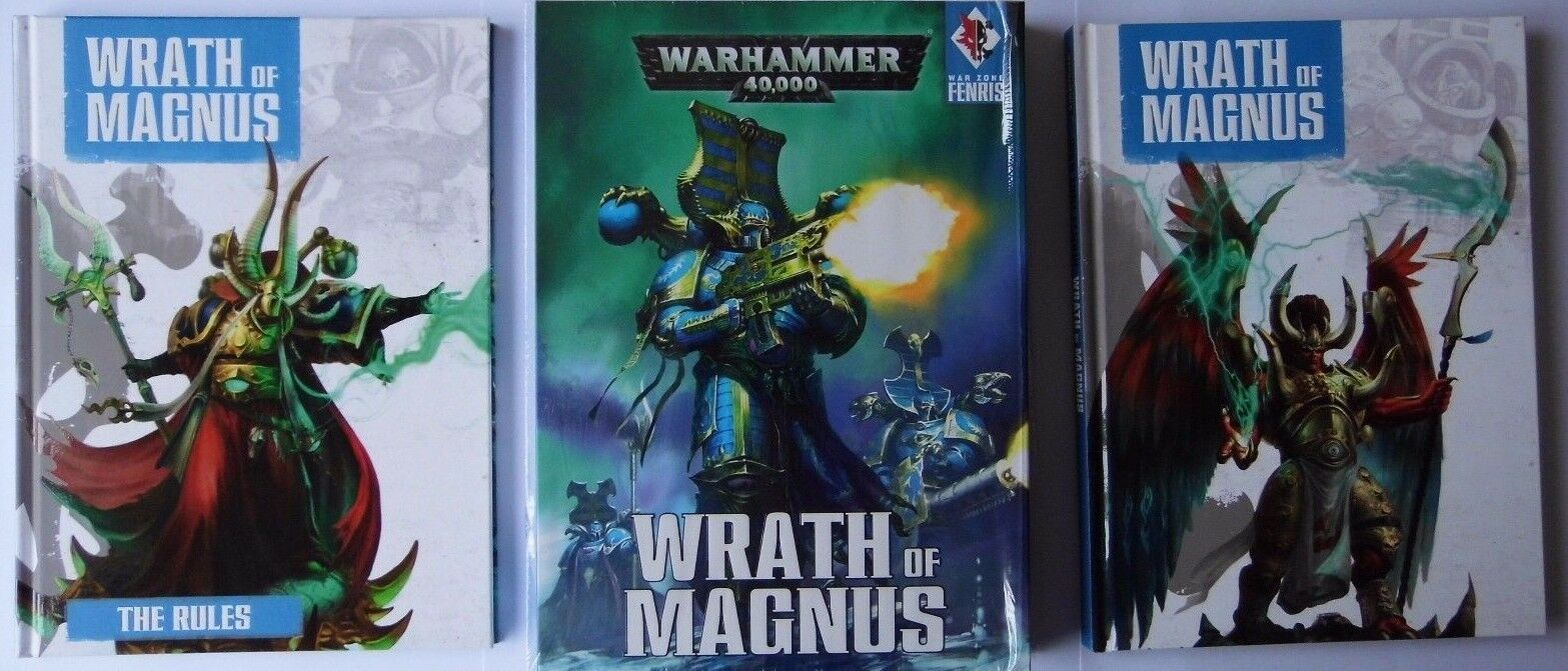 WRATH OF MAGNUS - WARHAMMER 40,000 40K - GAMES WORKSHOP - 2X HARDCOVER BOOKS