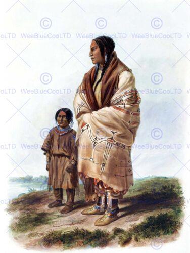 NATIVE AMERICAN BODMER DACOTA WOMAN ASSINIBOIN GIRL POSTER PRINT BB12248B