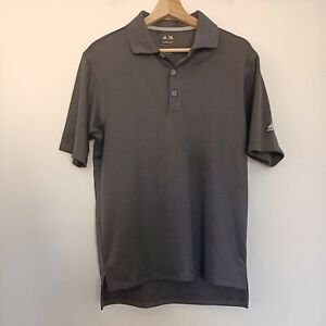 Adidas Climalite Tennis Golf Polo T-Shirt Tee Shirt Collared Size S Small Black