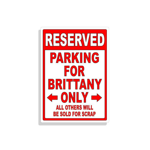Personalized Parking Sign Wall Decal Metal Sign No Parking Customized BRITTANY
