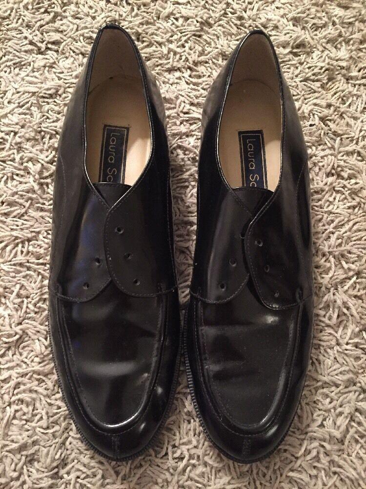Mens Laura Scott Black Size Leather Upper Dress Shoes Size Black 10M 82ea9c