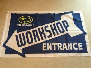 CréAtif Subaru Impreza Wrx Sti P1 Forester Legacy Workshop Entrée Drapeau Bannière-afficher Le Titre D'origine