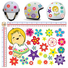 adesivo casco susanna fiori STICKER helmet flowers susanna cartoon tuning 26 pz.