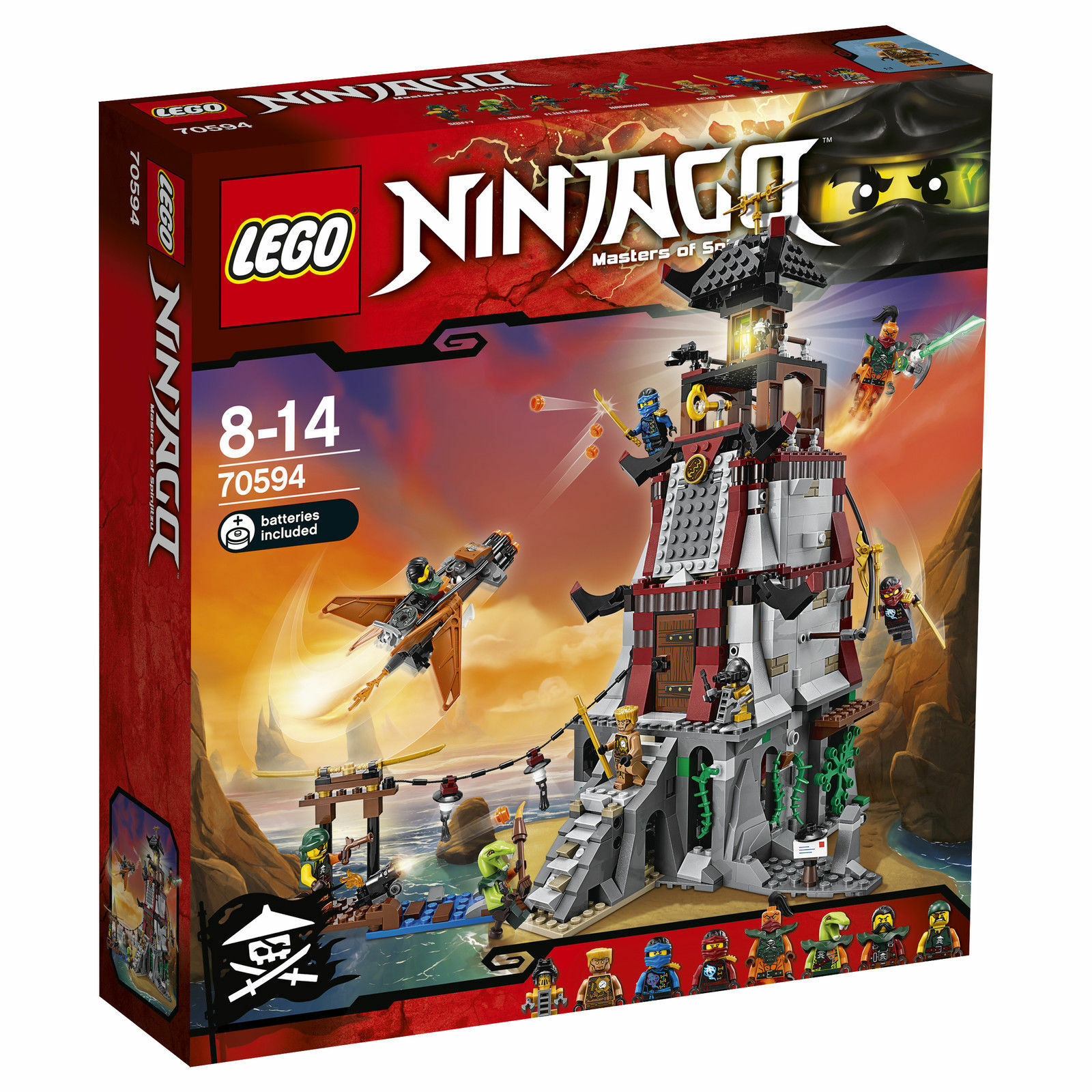 LEGO® NINJAGO® (70594) Die Leuchtturmbelagerung inkl Versand Neu & Ovp