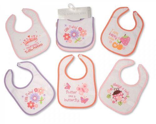5er Pack Baby Lätzchen PEVA Rückseite wahlweise Mädchen Jungen Motiv