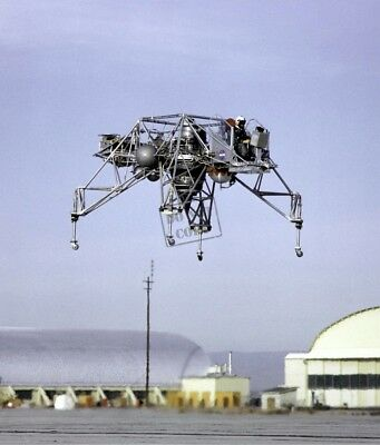 Genteel Lunar Landing Research Vehicle In Flight 8x12 Photograph Nasa A Distinctive For Its Traditional Properties