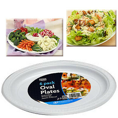 Party Serving Platters Oval Picnic Plates BBQ Fruit Salad Meat Washable Reusable