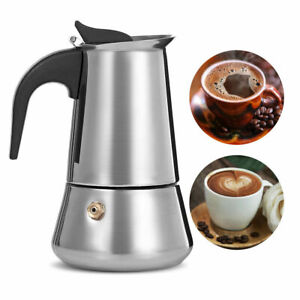 Moka Italian Coffee Maker Pot Stainless Steel Stovetop Espresso Induction Cooker