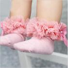 infantil bebe niña encaje fruncido Calcetines tobilleros Princesa antideslizante