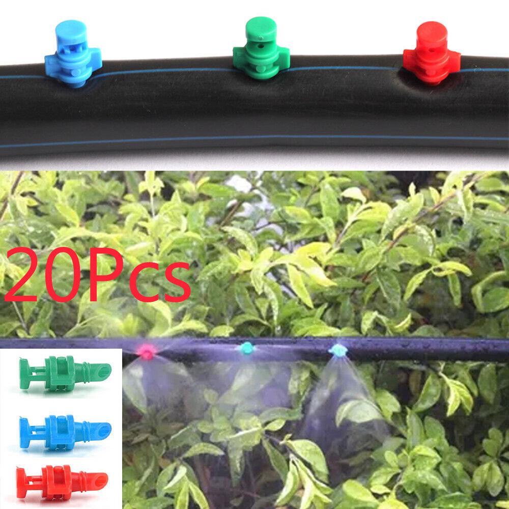 20pcs Micro Garden Lawn Water Spray Misting Nozzle Sprinkler