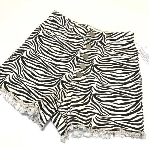 Nwt Print W25 a grossa di Urban Zebra Outfitters jeans alta Bdg taglia Pantaloncini vita RxAO7U