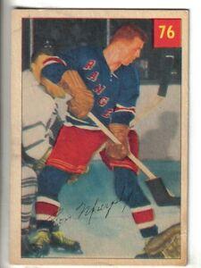 1954-55-Parkhurst-Hockey-Card-76-Ron-Murphy-New-York-Rangers-VG-EX