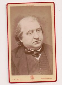Vintage-CDV-Joseph-Ernest-Renan-French-expert-Semitic-language-J-M-Lopez-Photo