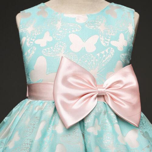 Sans manches Princesse Filles Robe Papillon Bal Robe De Mariage Partie Enfants Vêtements