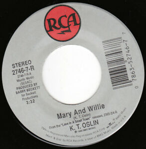 """K.T. OSLIN - Mary And Willie 7"""" 45"""