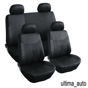 8-PCS-FULL-SET-BLACK-LEATHER-LOOK-SEAT-COVERS-FOR-TOYOTA-PRIUS-2012