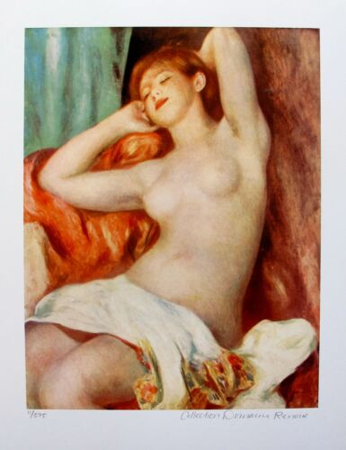Pierre Auguste Renoir NUDE STUDY Estate Signed Small Giclee Art