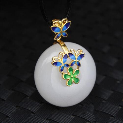 100/% Natural 平安扣 Xinjiang Kunlun white jade drop pendant AAA