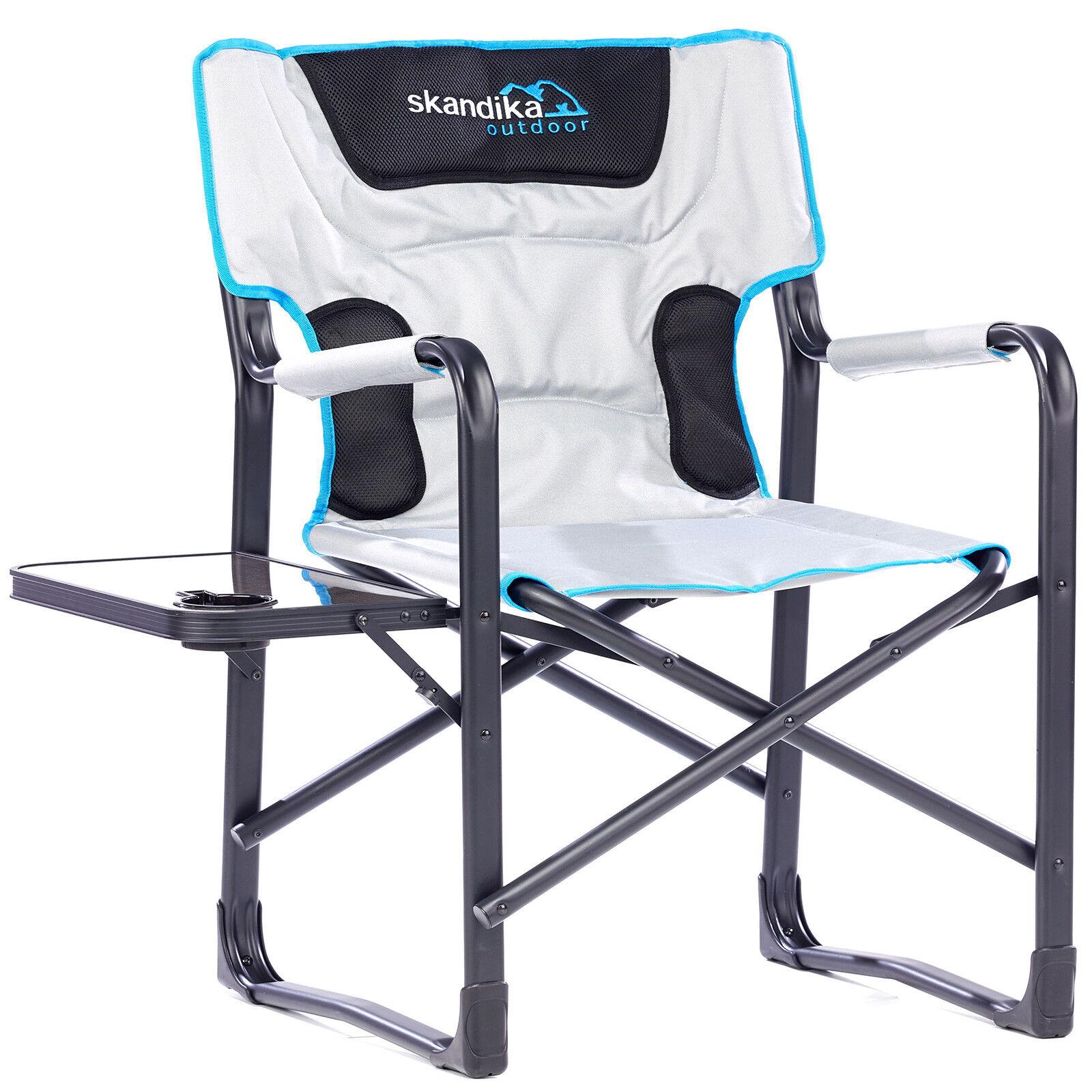 Skandika Siège Chaise Deluxe De Camping Pliable avec tablette Max 150Kg NEUF