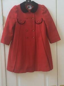 Vintage Young Gallery/Rothschild Style Girls Wool Coat 6X=7/Cherry ...