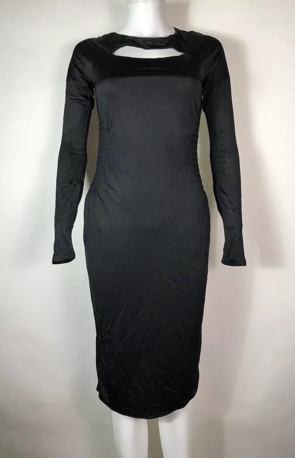 Rare Vtg Gucci Black Cut Out Dress S - image 3