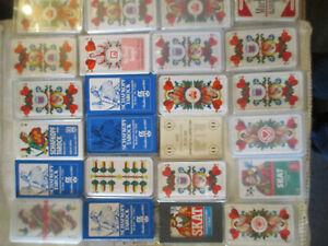 Neuwertig Obligatorisch 24 ältere Kartenspiele Skat Schafkopf Mit Werbung Verpackt