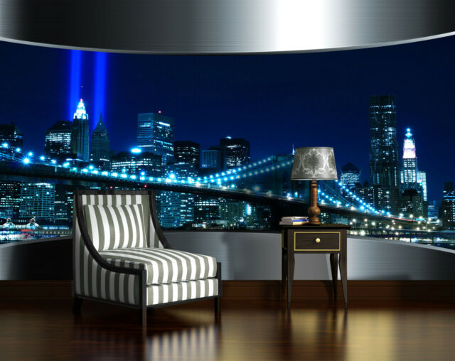 City Window River Skyscrapers Photo Wallpaper Wall Mural 360x254cm Office