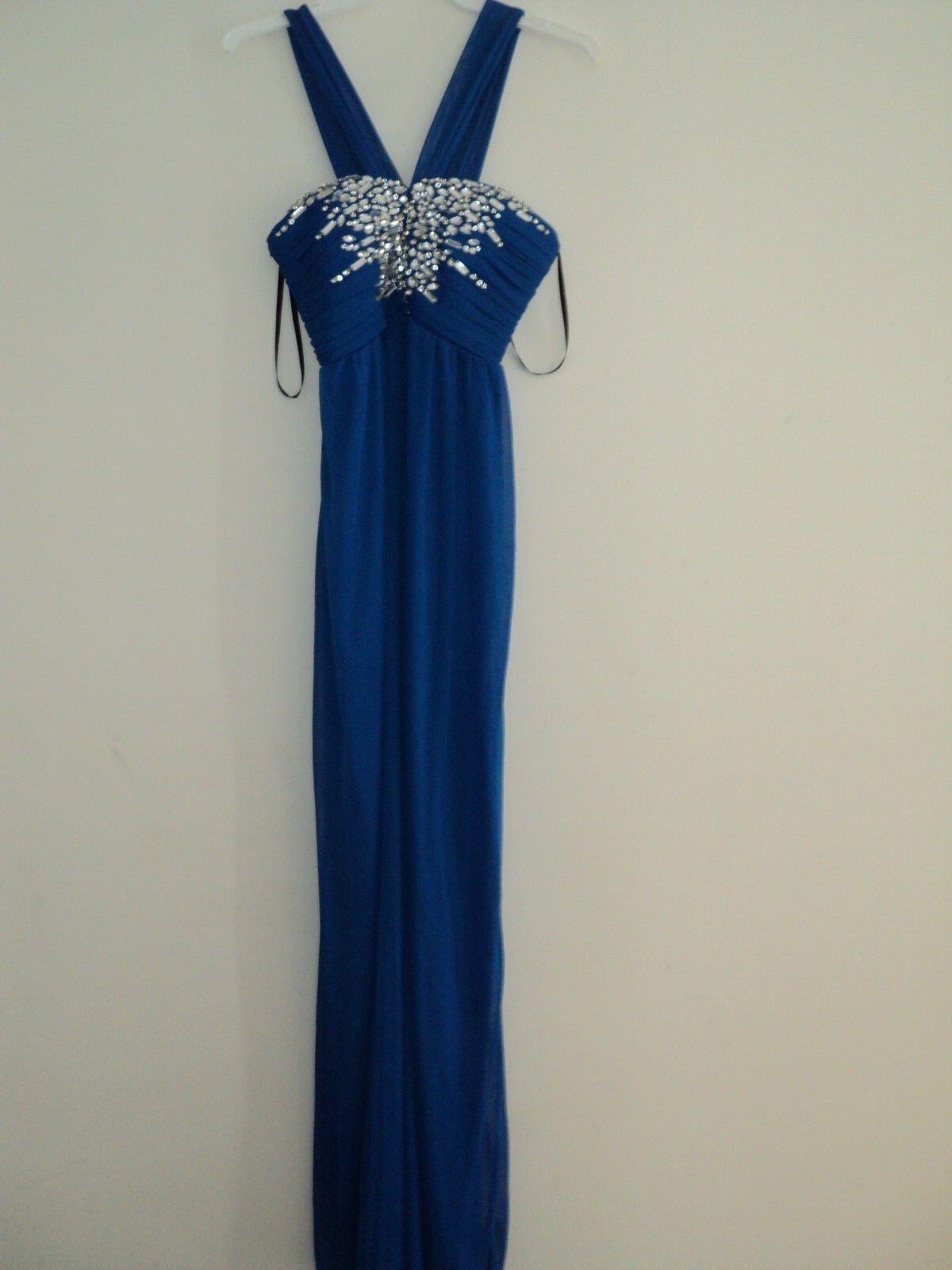 NEW Jodi Kristopher Royal bluee Jewels Junior Prom Home Coming Dress Size 3