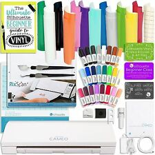 Silhouette Cameo 3 Bluetooth Bundle with Oracal 651 Vinyl, Tools, Pixscan, and M