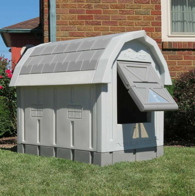 Heated Doghouse Outdoor Insulated Dog House With Floor Heater For