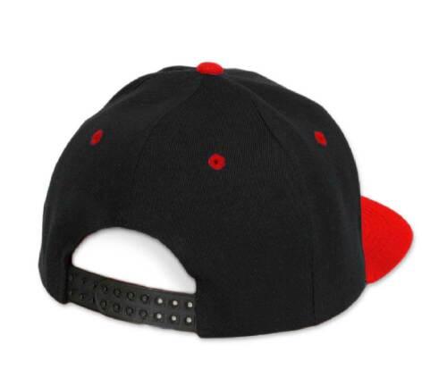 Men women Adult Snapback Flat Hat Red Peak Casual Baseball Cap American Twill LA