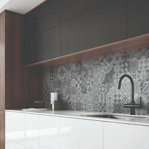 Tile Effect Laminate Kitchen Splashback Various Decors Reversible Wall Panels Ebay