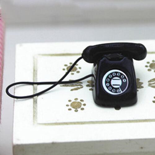 Dollhouse miniature scene model dollhouse accessories mini fixed telephone Fq