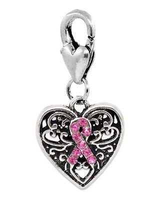 Ruban Rose Cancer Du Sein Sensibilisation Charme Pour Européenne Bracelet Collier