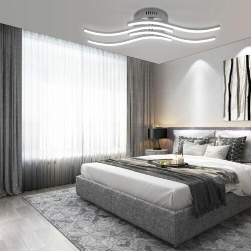 220V 4*3.4W LED Design Deckenlampe Wellenlicht Wohnzimmer Deckenleuchte 3000K DE