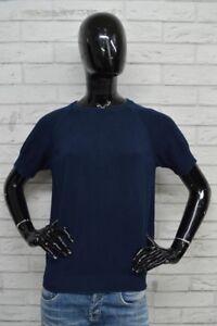 Maglione-Donna-CALVIN-KLEIN-Taglia-Size-S-Pullover-Blu-Sweater-Woman-Cardigan