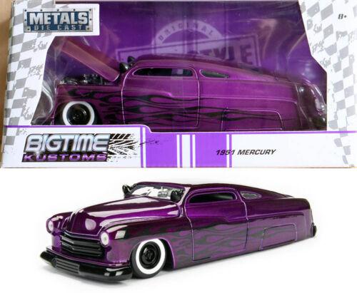 1951 Ford Mercury Purple Black Flames Violett Schwarz 1:24 Jada Toys 99061