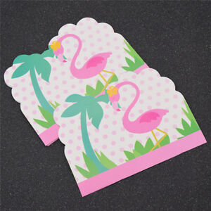 10 pcs flamingo invitations lovely card for party birthday wedding