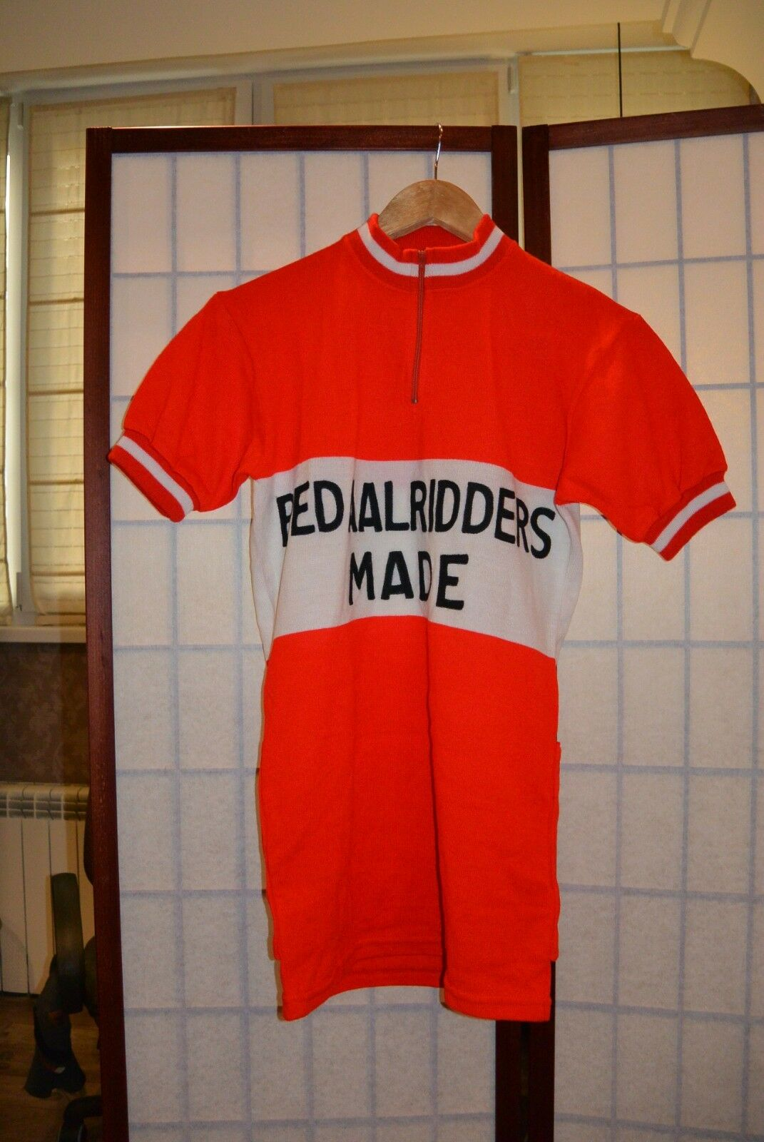 Pedaalridders MADE ANCIENNE VINTAGE rot CYCLING JERSEY cornelo, M (vei)