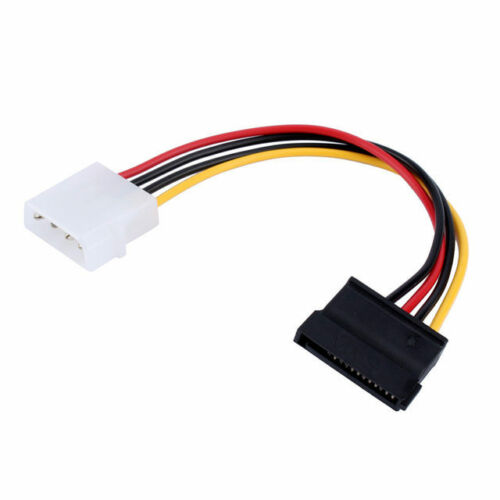LOT OF 25 IDE//Molex 4-Pin Male To Serial SATA 15-Pin Female Power Adapter Cable