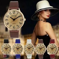 New Fashion Womens Ladies Watches Geneva Faux Leather Analog Quartz Wrist Watch