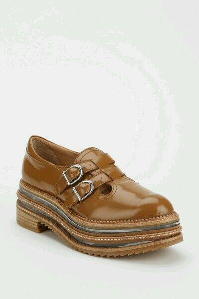Jeffrey Campbell Marianne Platform Mary Jane Carmel shoes Brown Size 9.5 Comfy